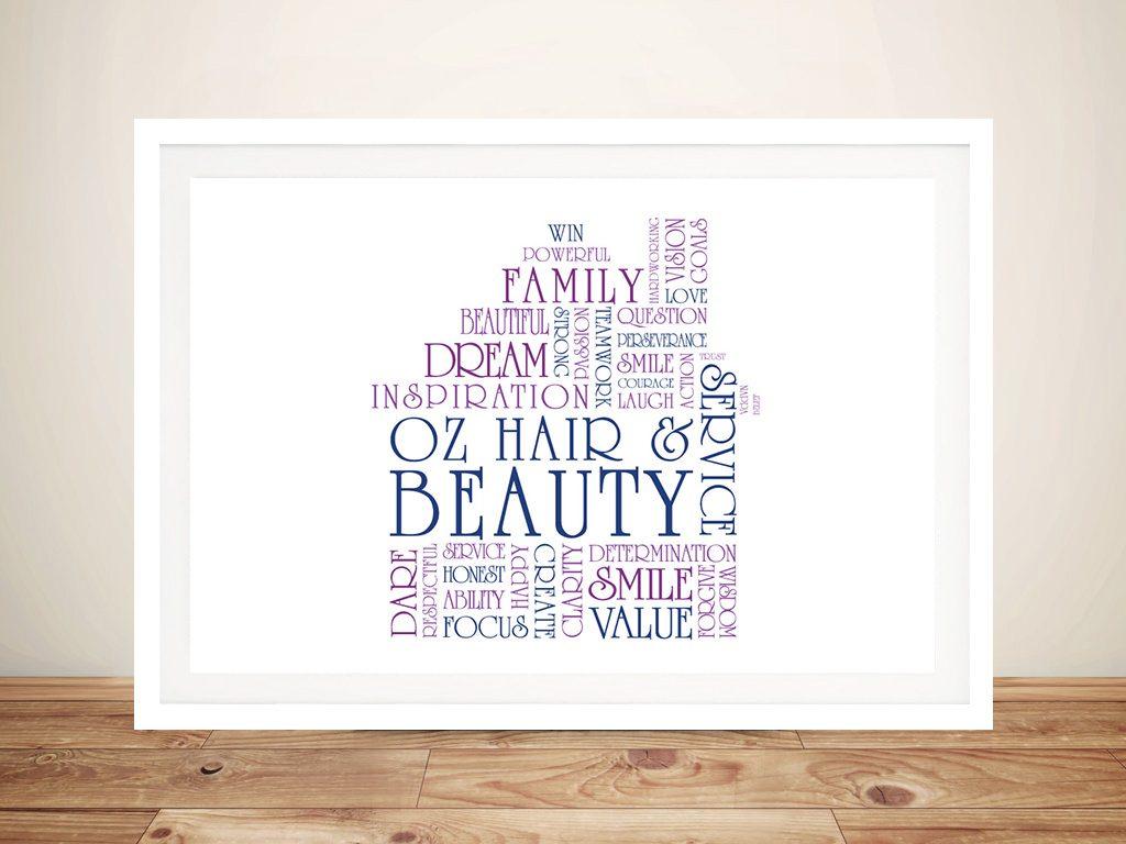 House Shape Word Art Framed Print
