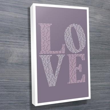 I Love You word art | I Love You – Mauve