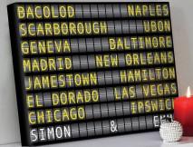 Airport Flight Destination Sign Art