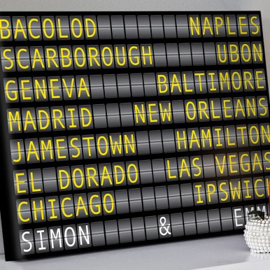 Airport Flight Destination Sign Art | Airport Flight Sign – 2 Landscape