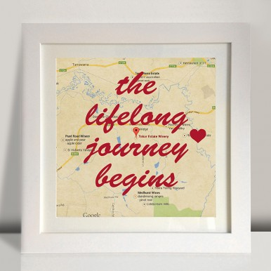 Personalised Framed wall Art | The Life Long Journey Begins