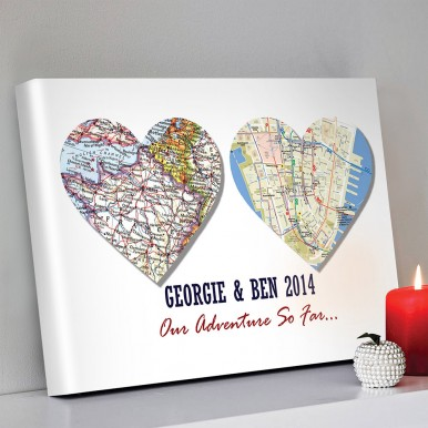 Personalised-Heart-map-Art | 2 Personalised Heart Maps