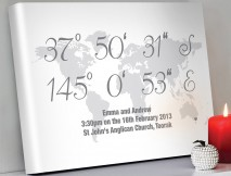 Personalised coordinates artwork