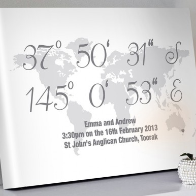 Personalised coordinates artwork | Coordinates Art Style 4