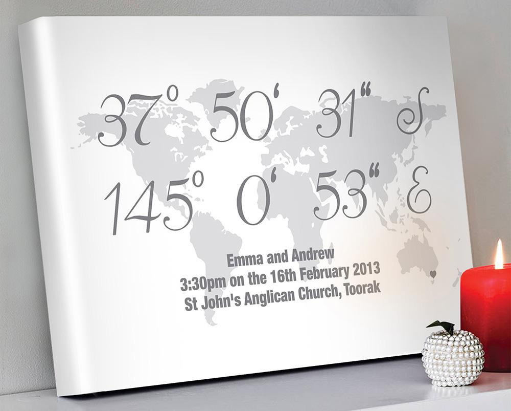 Personalised coordinates artwork