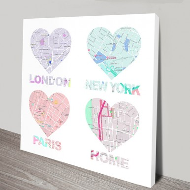 Personalised Map Art | Home is where the heart is 1