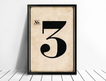 Vintage wall art Numbers