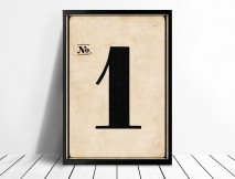 Framed Vintage Numbers Wall art