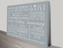 personalised canvas word art