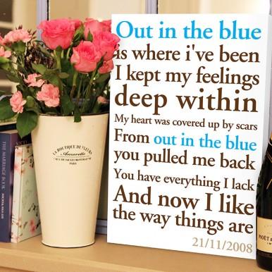 personalised poem word art   Poems & Rhymes Style 1