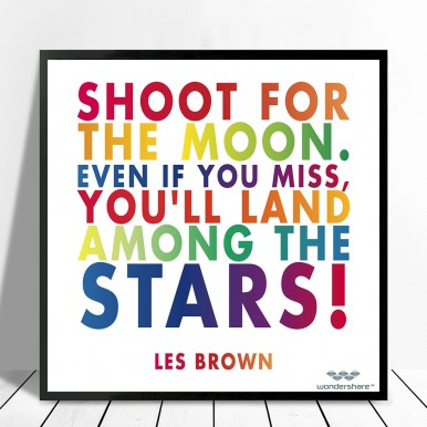 inspiration word art canvas | Shoot for the stars