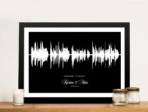 Personalised Soundwave Framed Wall Art