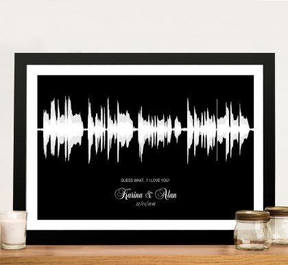 Personalised Soundwave Framed Wall Art | Dual Colour