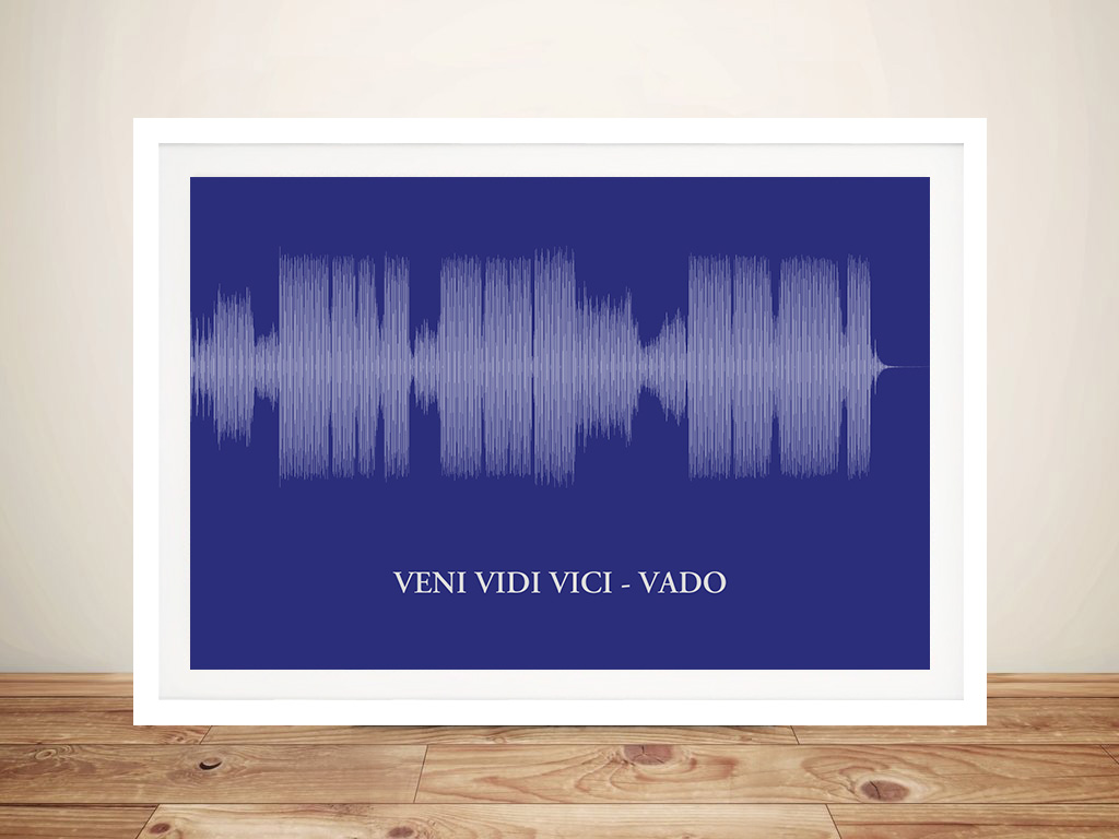 Sound wave Framed Wall Art | Mono Colour