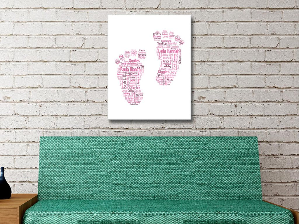 Buy Affordable New Baby Personalised Art AU