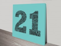 Personalised Numbers canvas art