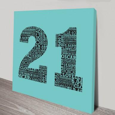 Personalised Numbers canvas art | Personalised Numbers