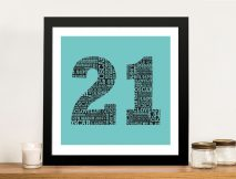 Personalised Numbers Wall Art Gifts