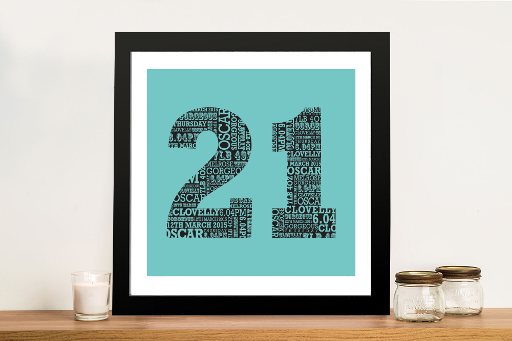 Personalised Numbers Wall Art Gifts | Personalised Numbers