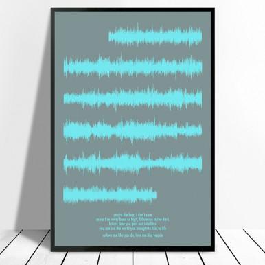 Portrait phrase soundwave artwork | Portrait Long Waves