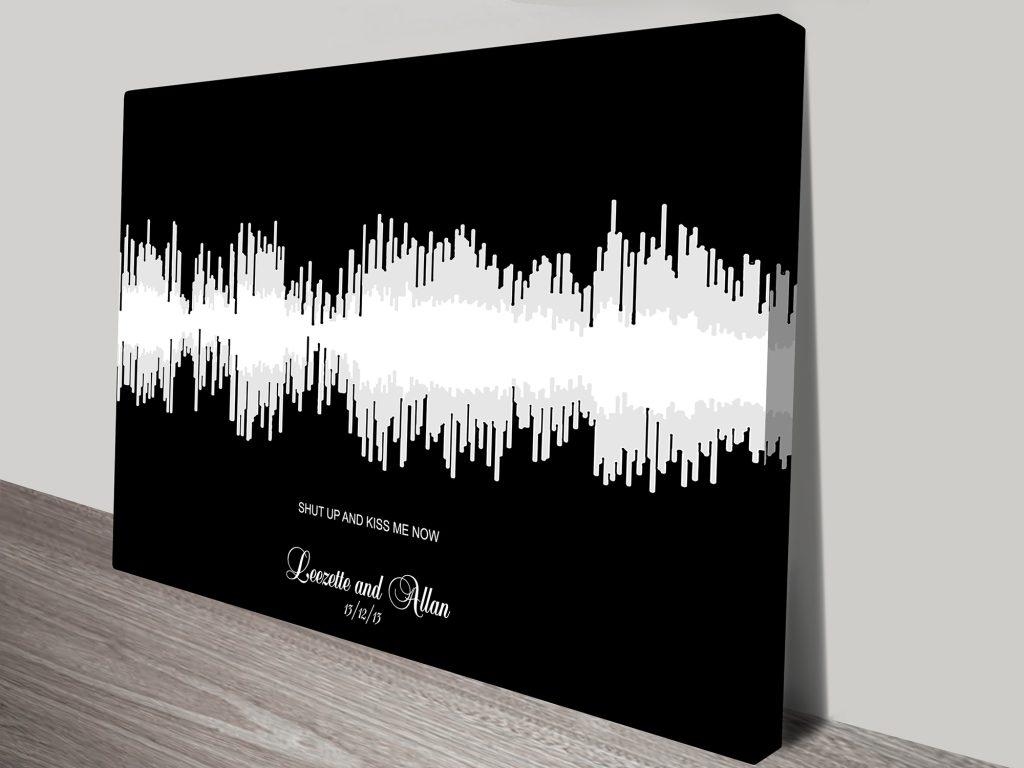 dual colour soundwave art
