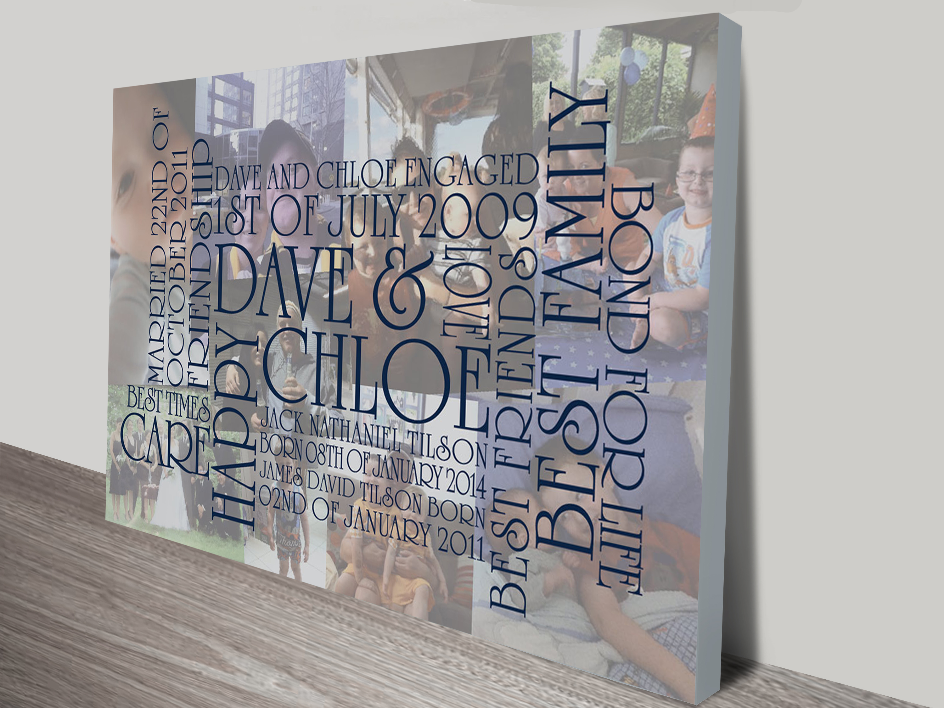 collage personalised word art   Collage Typographic