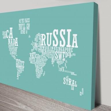 Custom Word World Map | Custom World Map