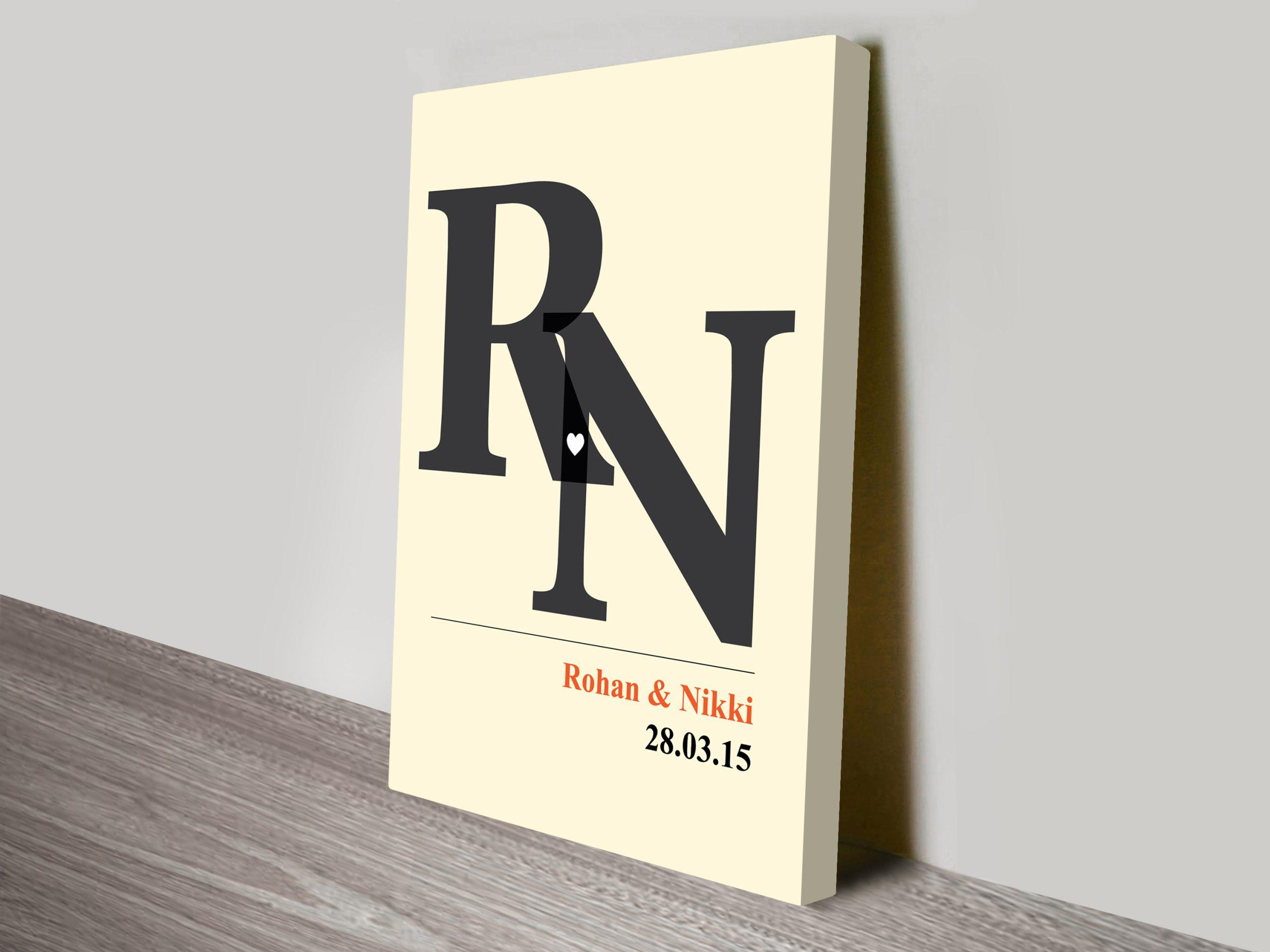 initials custom wedding gift art | Initials Custom Art