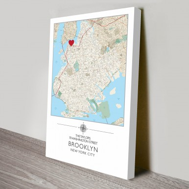 Personalised Map Art Australia | Our home