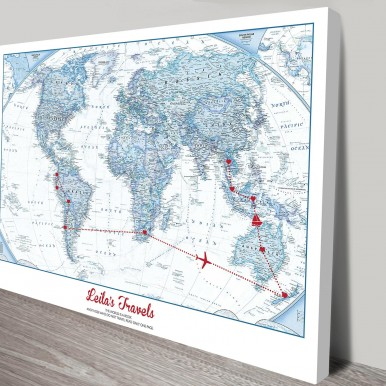 personalised map art | Our Travels