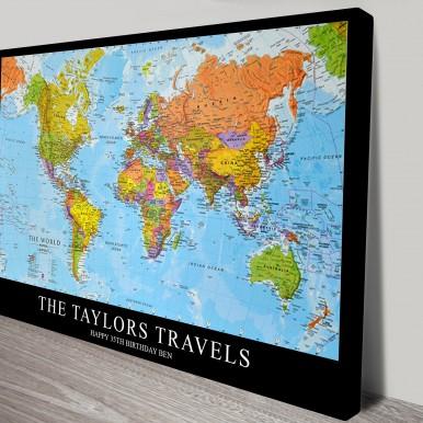 Travels Custom Map | Custom World Map 2