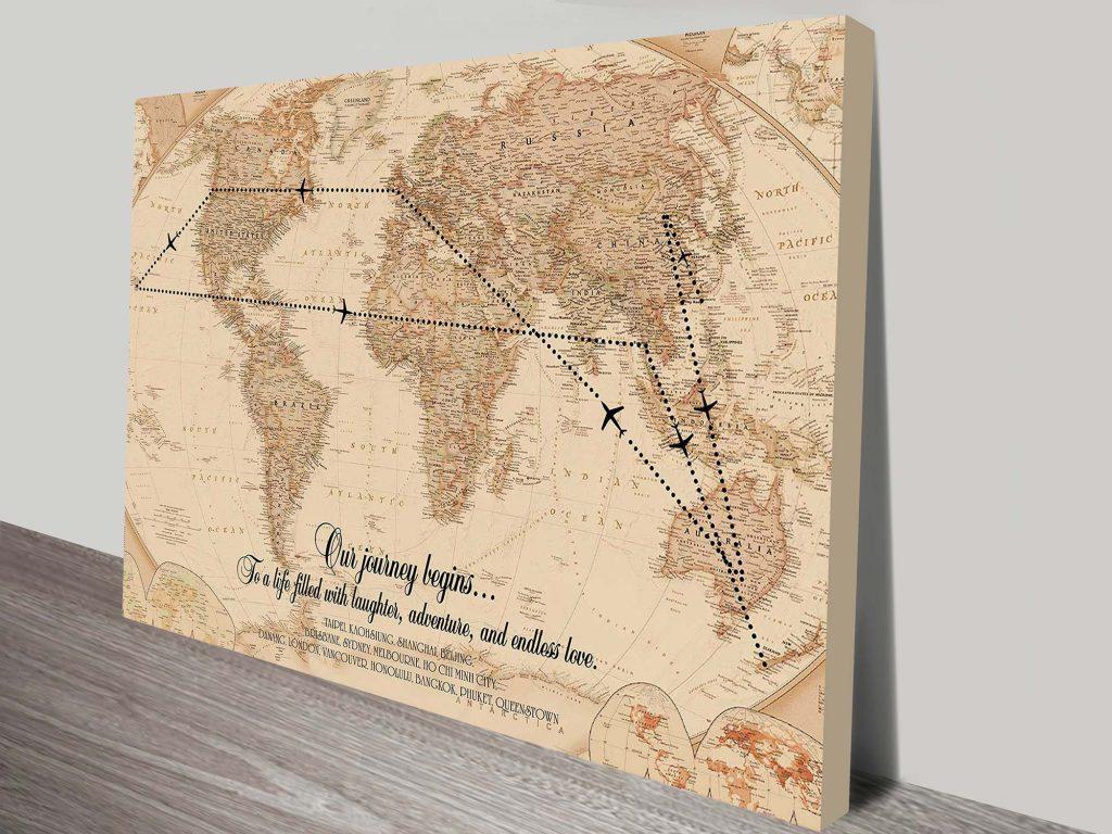 Vintage Travel Map