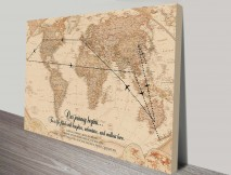 Vintage Travel Map