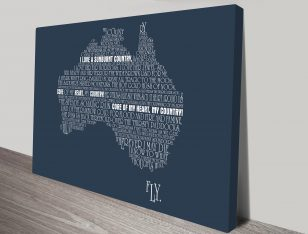 Personalised Australia Word Map Art