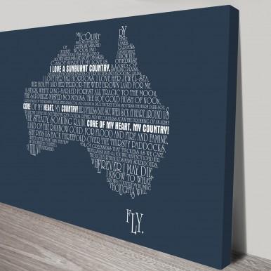 Personalised Australia Word Map Art | Custom Word Maps – Style 3