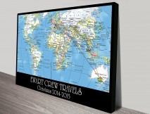 personalised travel map art