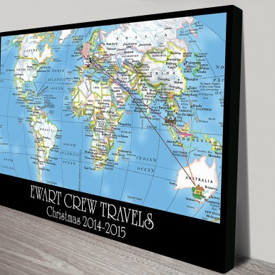 Personalised push pin travel map art | *Push Pin World Map – Wayfarer