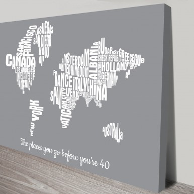 world type map art | Custom Word Maps – 2