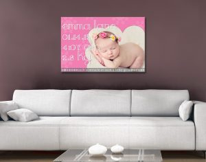 Personalised baby Canvas Artwork