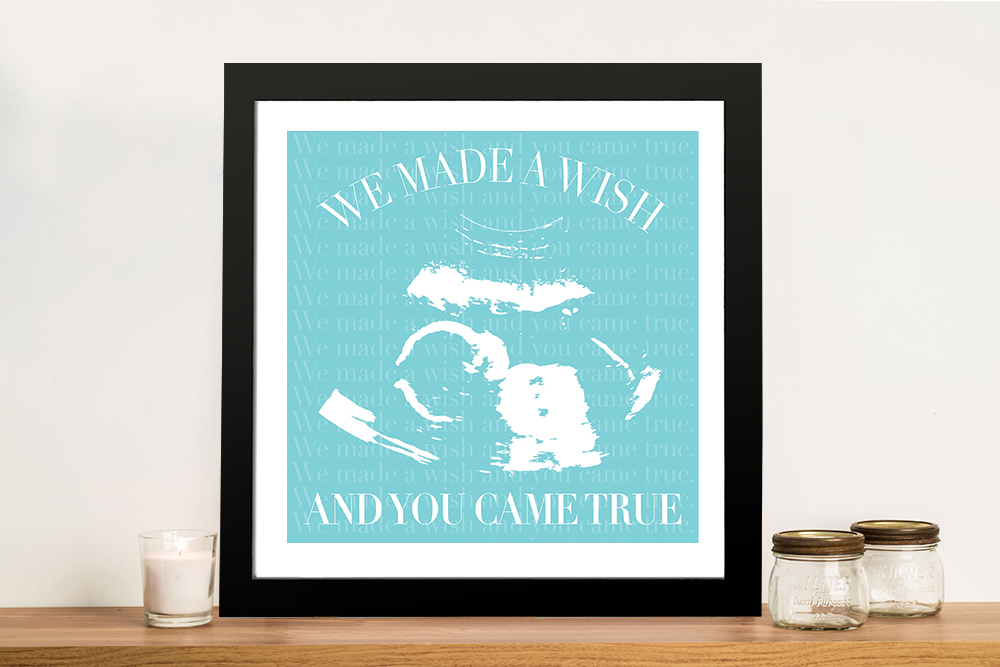 Buy New Baby Scan Personalised Wall Art | A Wish Come True
