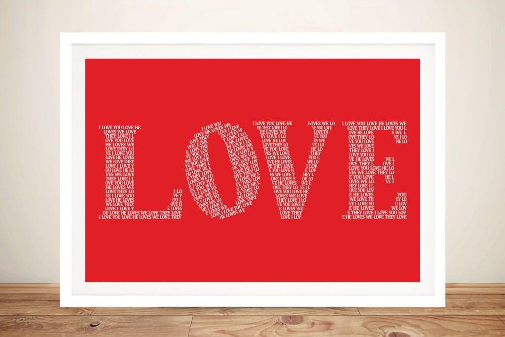 I Love You framed wall art