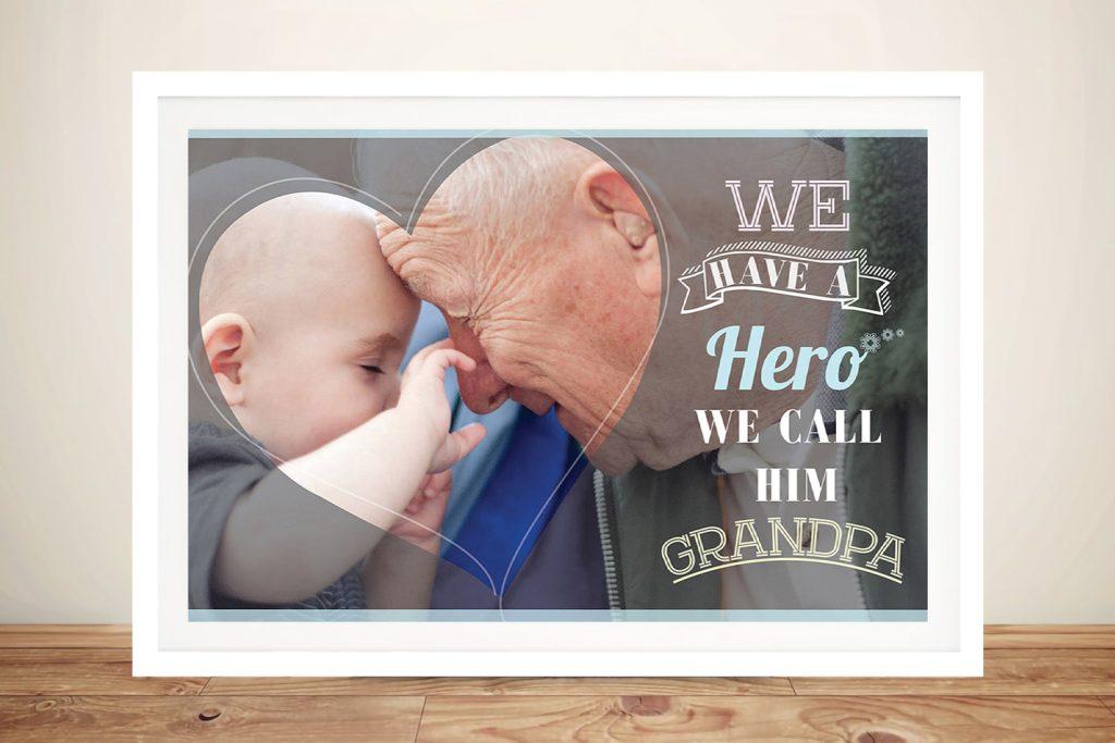 Grandad present idea Wall Art