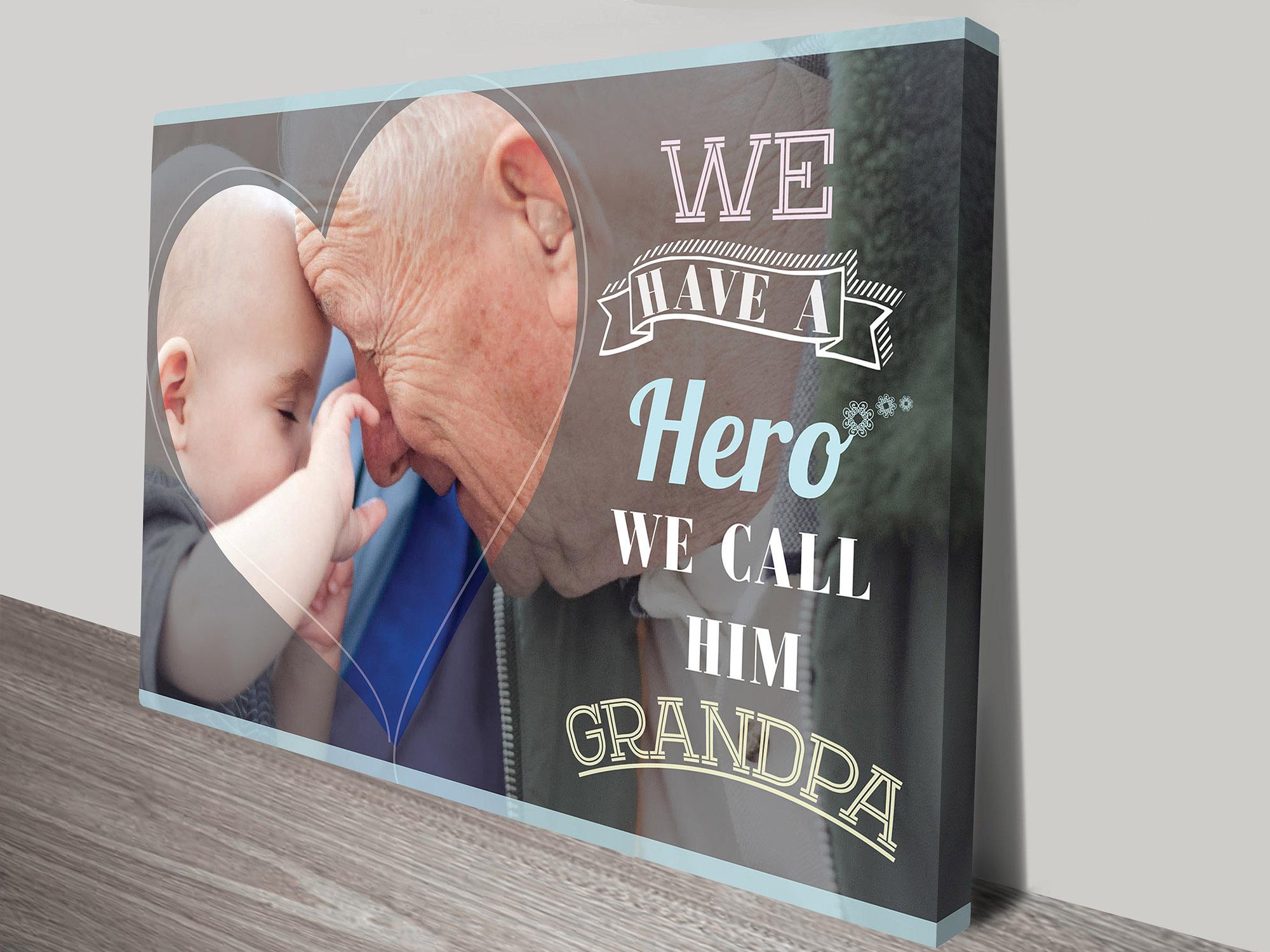 grandad personalised gift idea | Our Hero