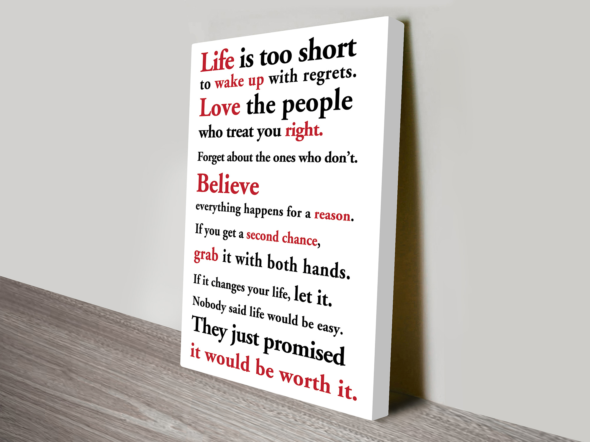 motivational quotes art | Life is too short