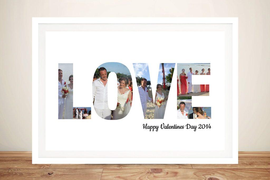 love photo word art framed