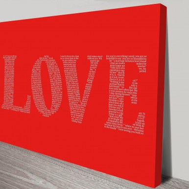 love word art canvas | The word is Love