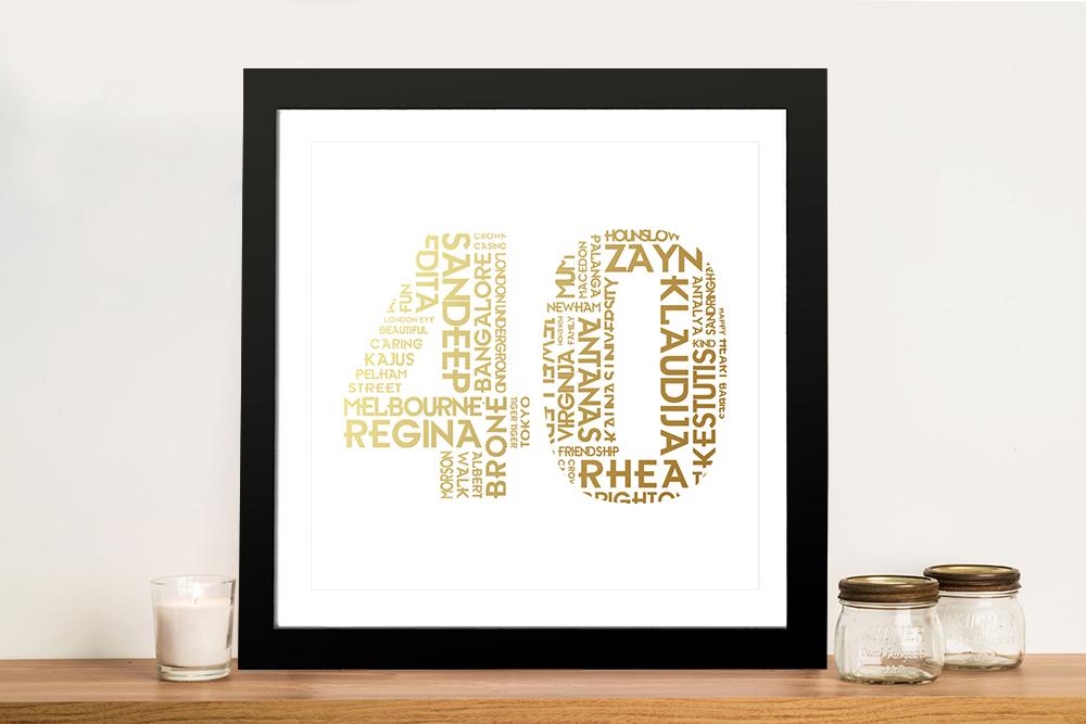 Personalised birthday number Art