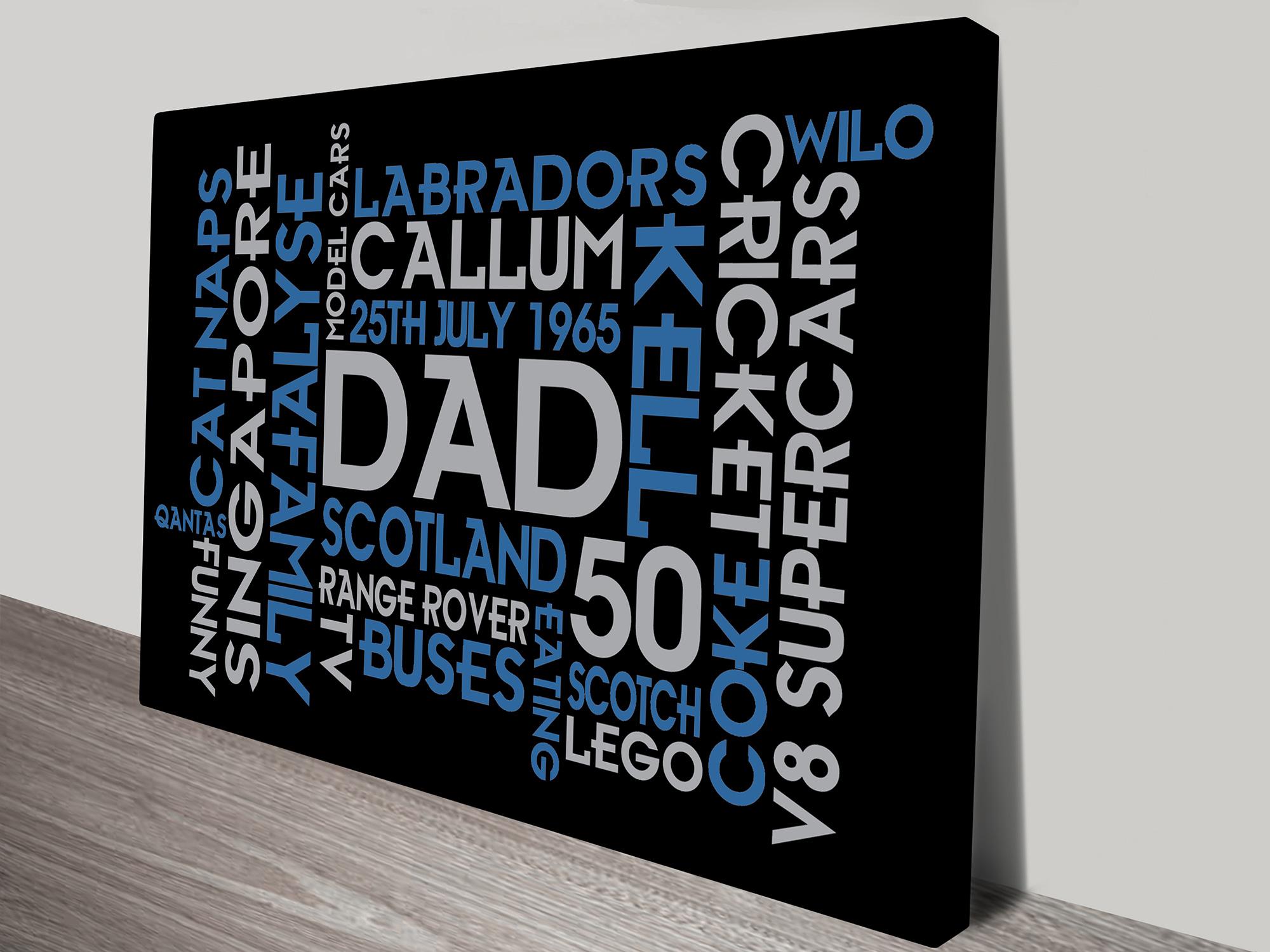 Dads Birthday Word Art | Dads Birthday