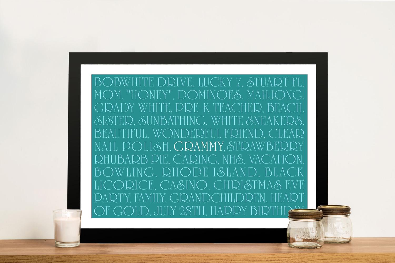 custom framed word art | Elegant Lines