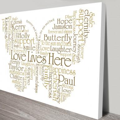 birthday butterfly shaped word art | Birthday Butterflies